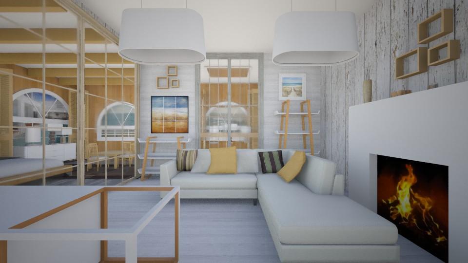 Modern Wood Beach Hut - Modern - Living room - by lauracopey