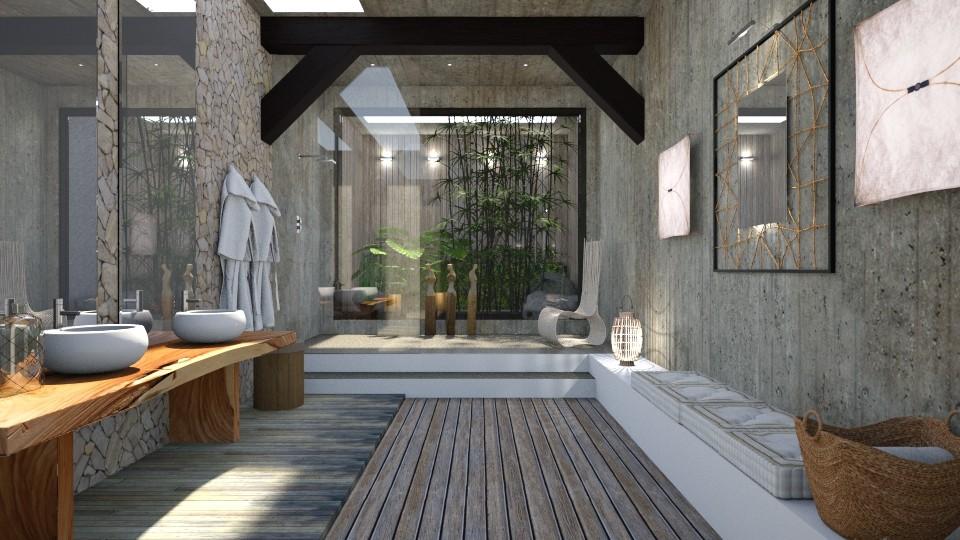 salle de bain - Bathroom  - by Artichoses