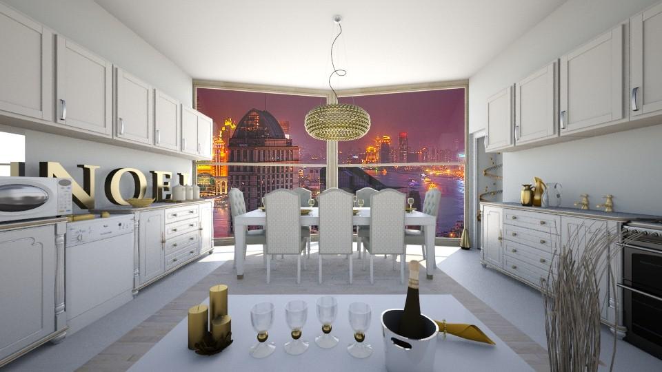 golden  - Kitchen - by blaze001