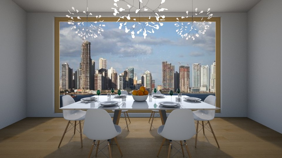 dining room in city - Dining room  - by avawrightthewrightone