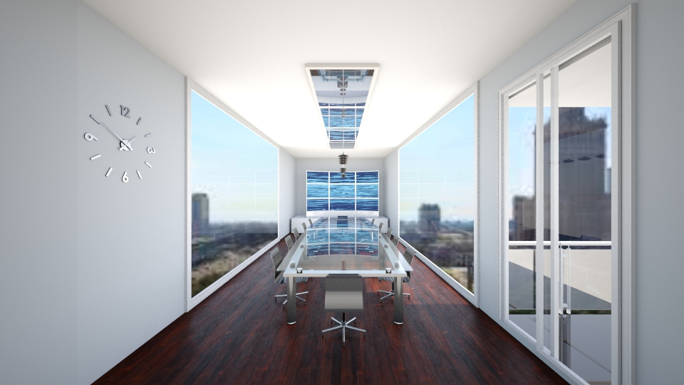 conference room w balcony - Modern - Office - by elliebaaron