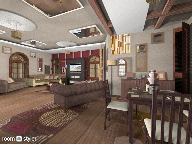Chocolate Mahogany - Eclectic - Living room  - by lauracopey