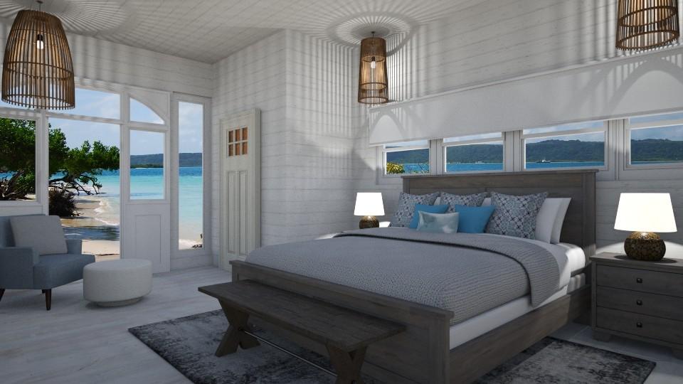 Beach Bedroom - Bedroom - by PenAndPaper