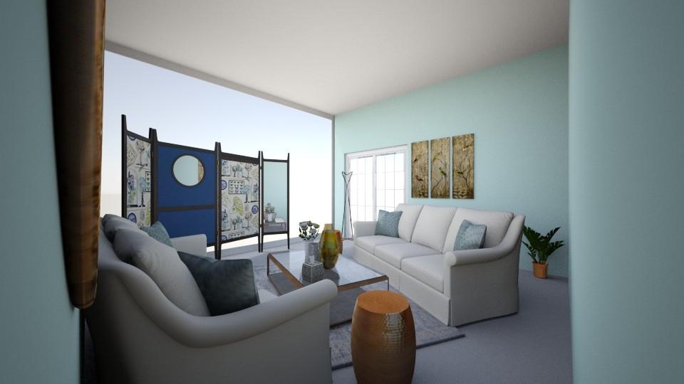 Blue heart - Living room - by hala011