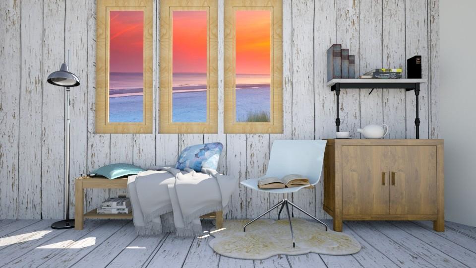 Steel Blue Reading Corner - by molliesmith475