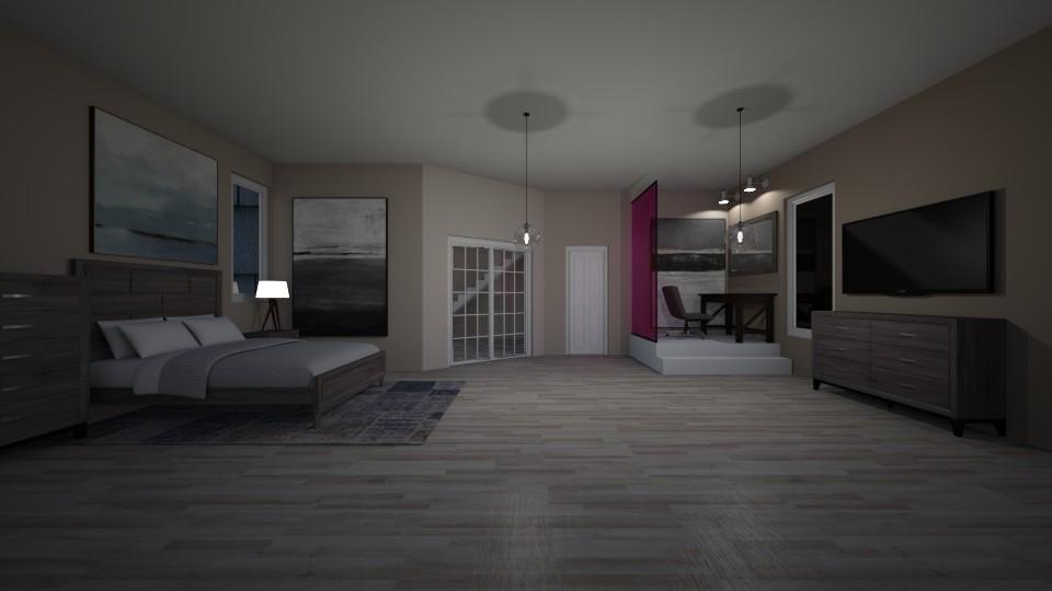 bedroom 1 - by The cartoon fan