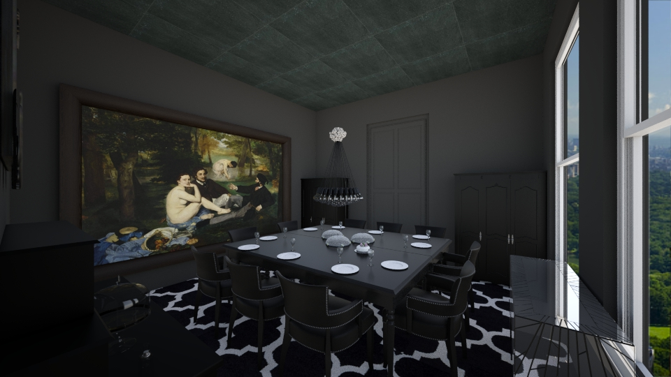 All Black - Dining room - by TColl3