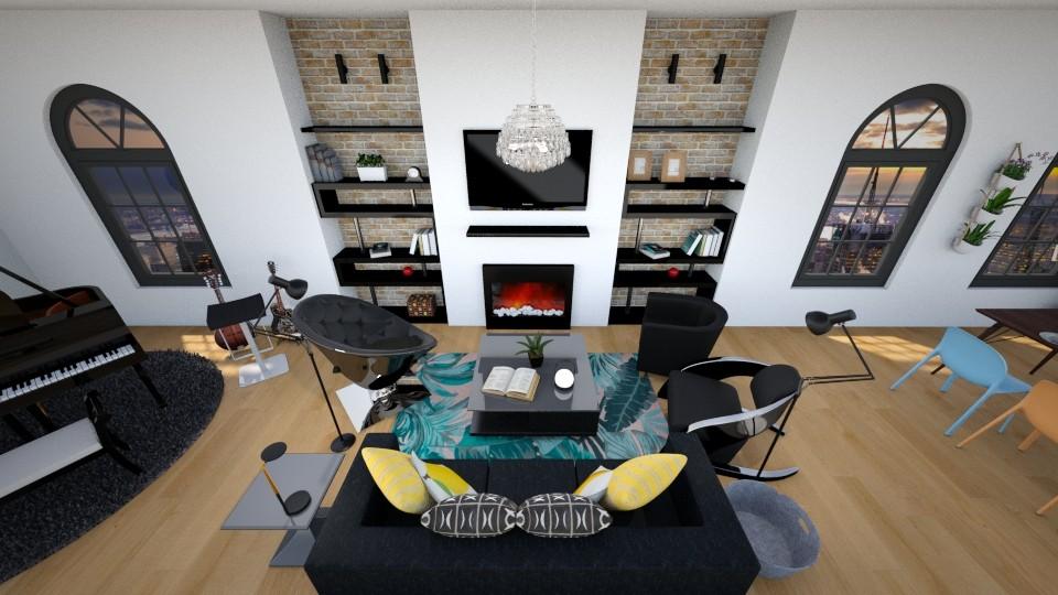 City Loft Living Room - Living room - by fantabulastica