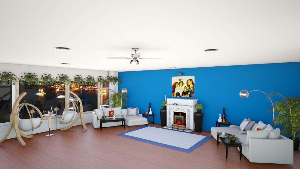 FRAN CONDO - Modern - Living room  - by JEN GRANT FRISKIELISKIE