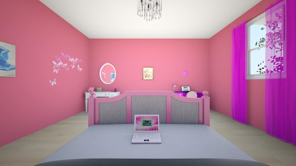Pink - Feminine - Bedroom - by Winner168