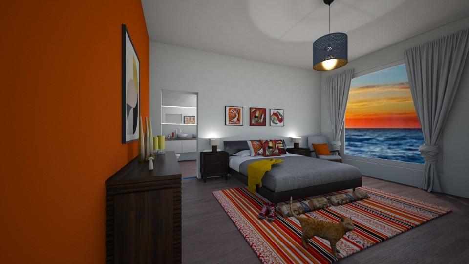 orange seaside - Bedroom - by thompsoni
