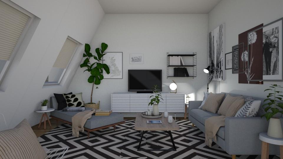 attic living - Living room - by irisrmks