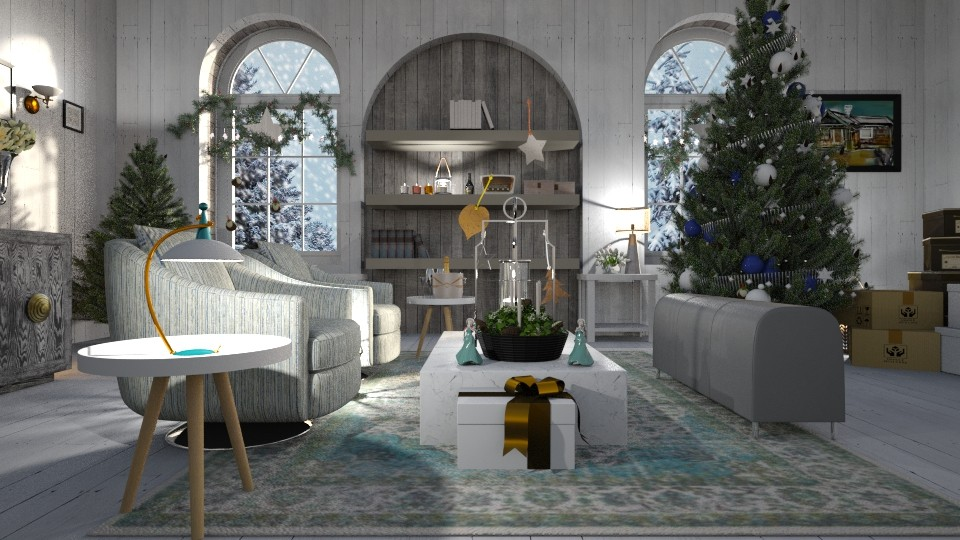 Christmas_Stars - Living room  - by ZuzanaDesign