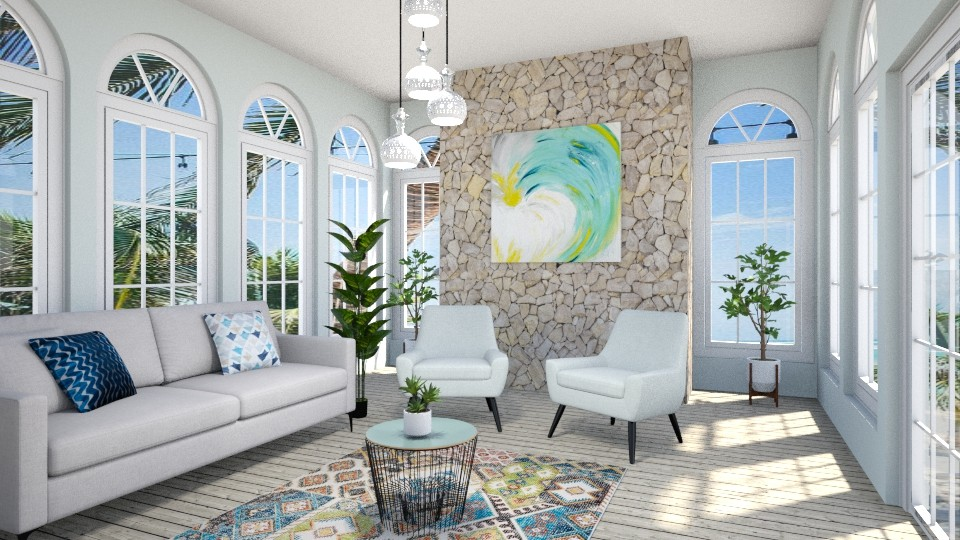 oceanic - Living room - by nabilacandra