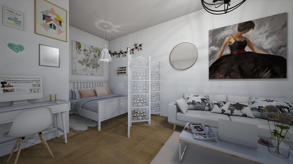 Studio Apartment - Modern - Living room - by Diana Pham