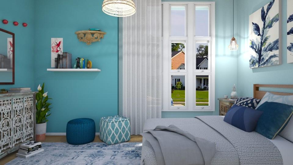 Blue Bedroom - Modern - Bedroom - by mclaraop