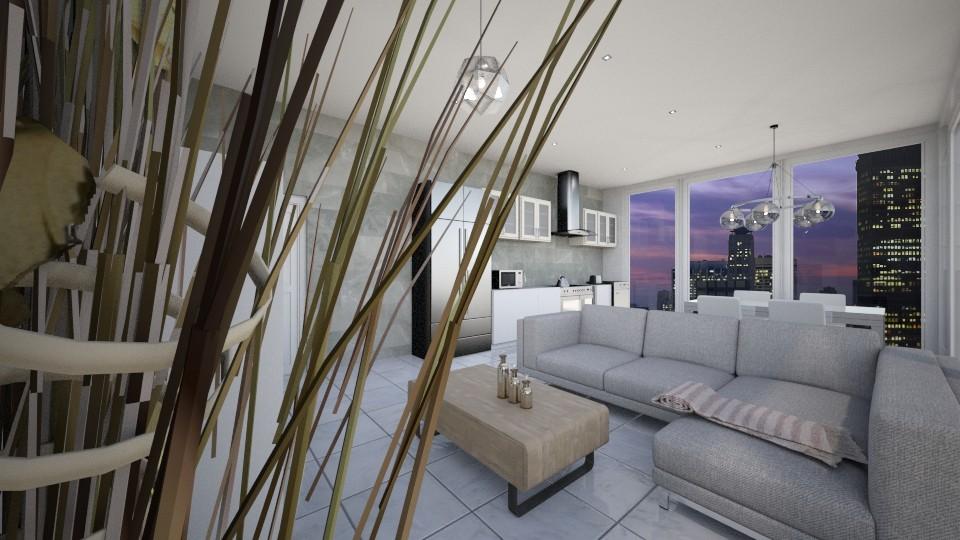 High rise kitchen - Modern - Living room - by UloveTashi Designs