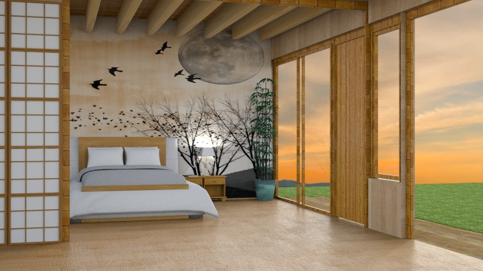 Japanese_Style Bedroom - by Yemascus