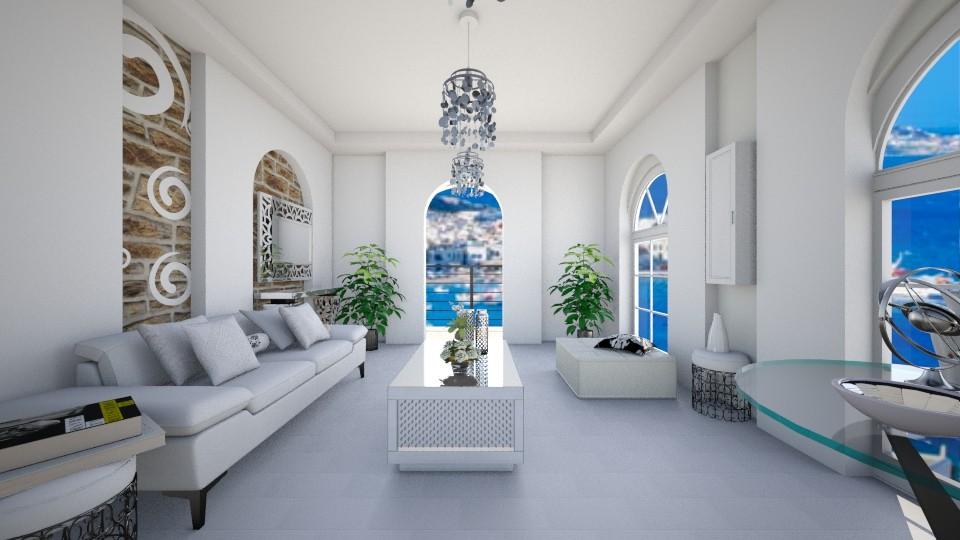 greek island - Living room - by TanjaS