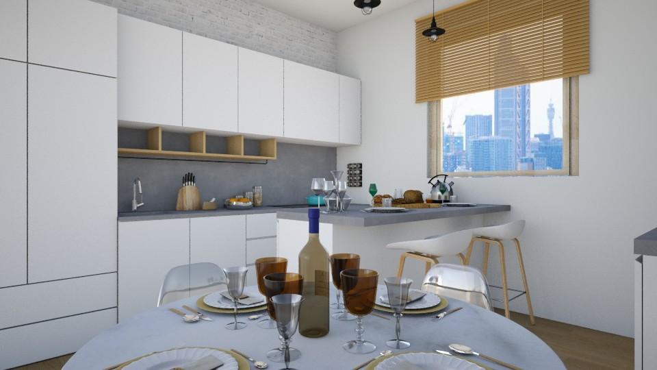 4x4 Flat Kitchen - Kitchen - by niidurose