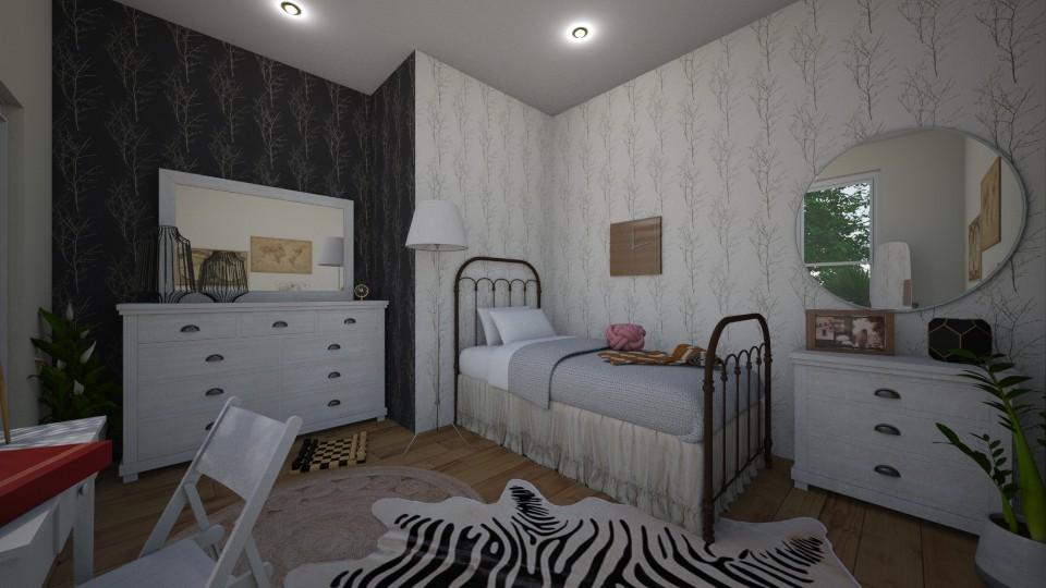 zebra room - Rustic - Bedroom - by Louxx19