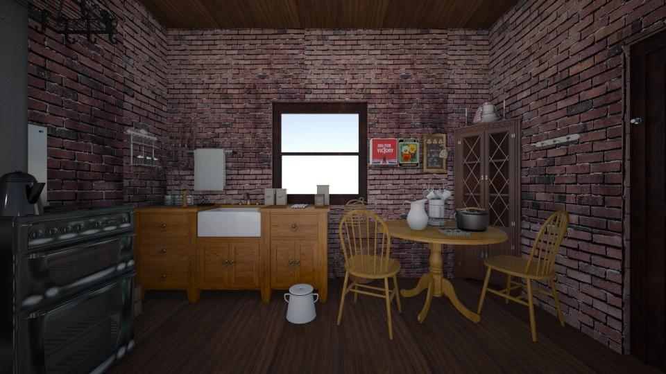 Secretary's Flat 1941 - Vintage - Bedroom - by PeculiarLeah
