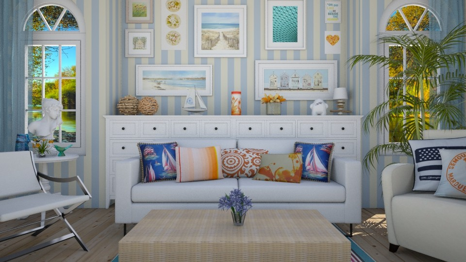 seaside - Feminine - Living room - by donella