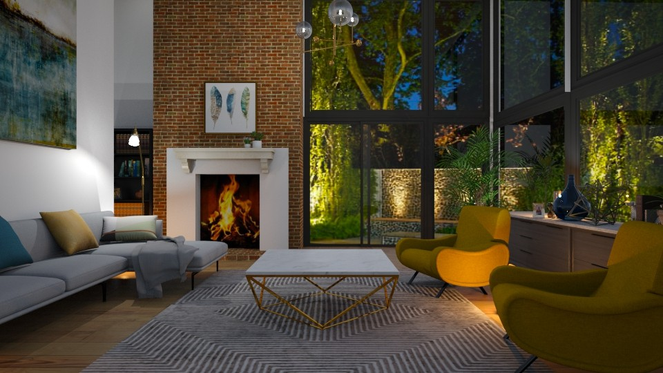 Yellow chairs - Living room - by euodia