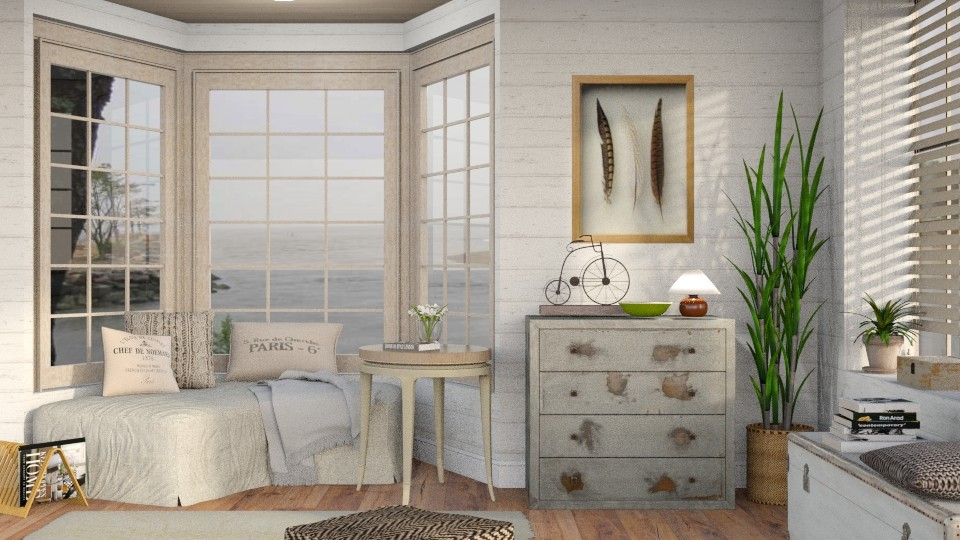 Neutrals 9 - Vintage - Living room - by Sally Simpson