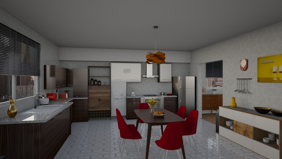 Mid Century Kitchen - Modern - Kitchen - by petersohn