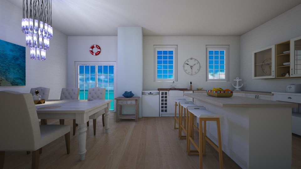 nautical kitchen - by tigerlily_bel