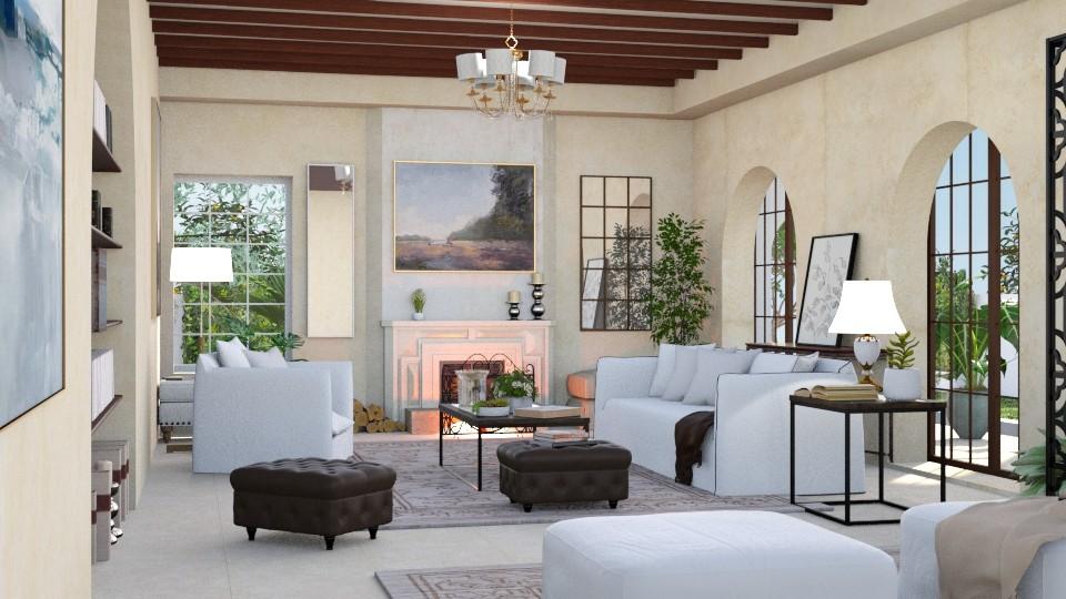Mediterranean - Living room - by ArtHousedeco