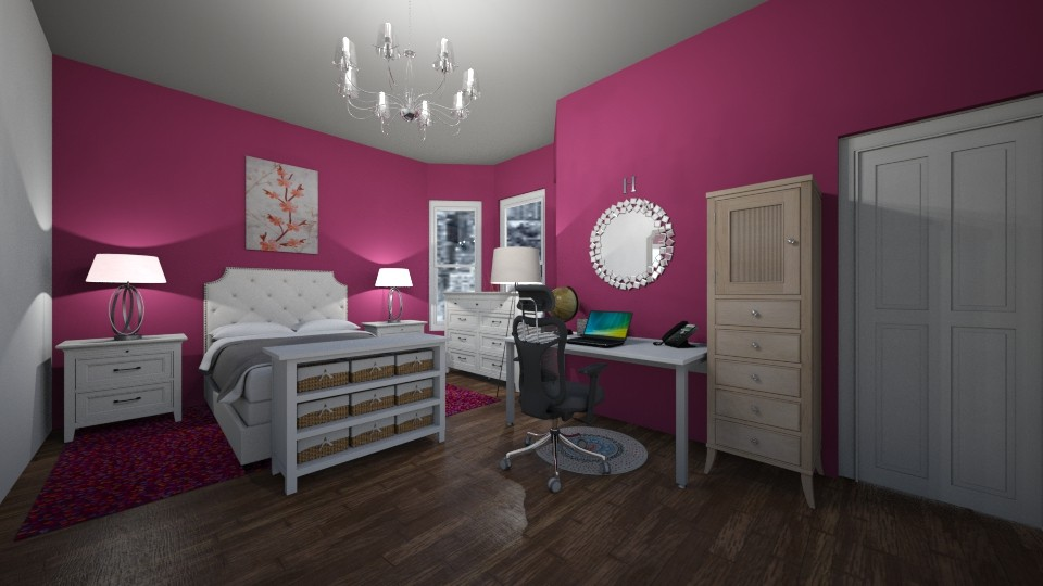 Lovely in Pink - Bedroom - by neverlanddesigns
