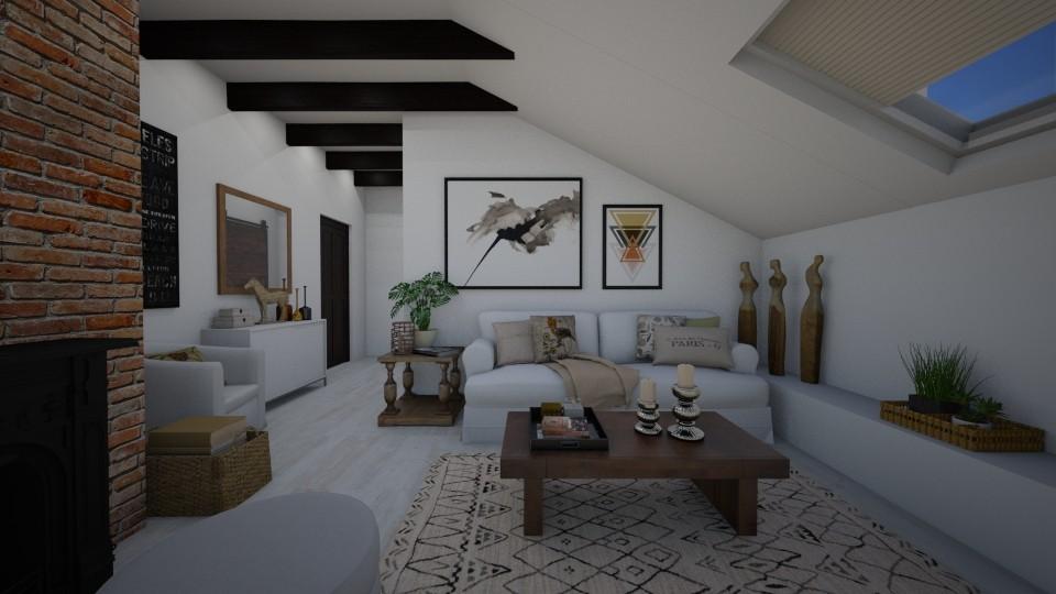 Sloping ceiling - Living room - by Tuija