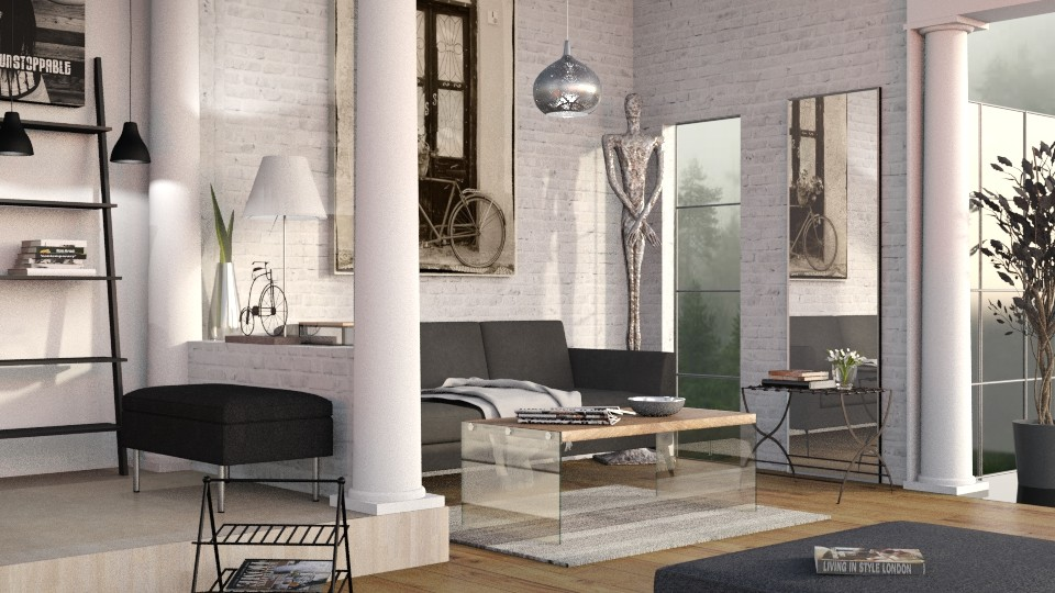 Living with Columns - Modern - Living room - by Sally Simpson