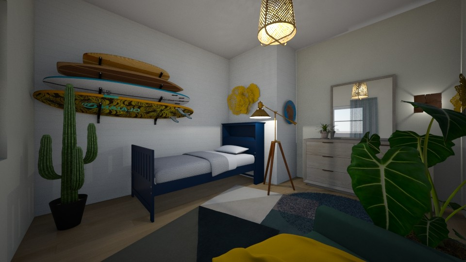 surfer room - Global - Bedroom - by Louxx19