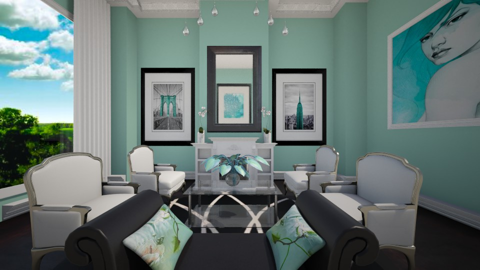 Sea Green - Living room - by sissybee