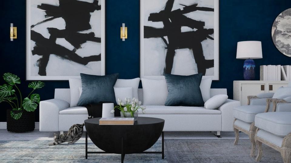 blue black - Living room - by Ripley86