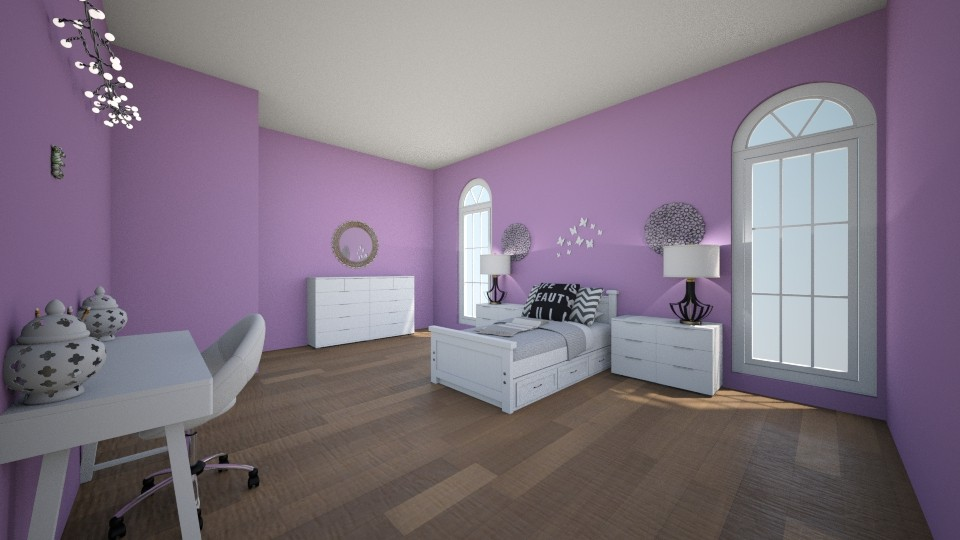 purple - Bedroom - by kiki_lax1