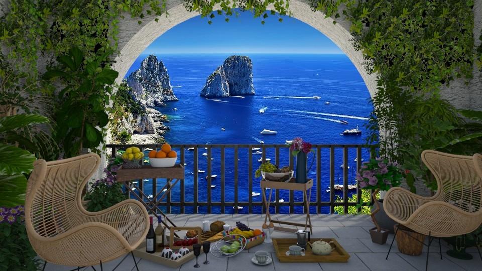 Capri Faraglioni - by JarkaK