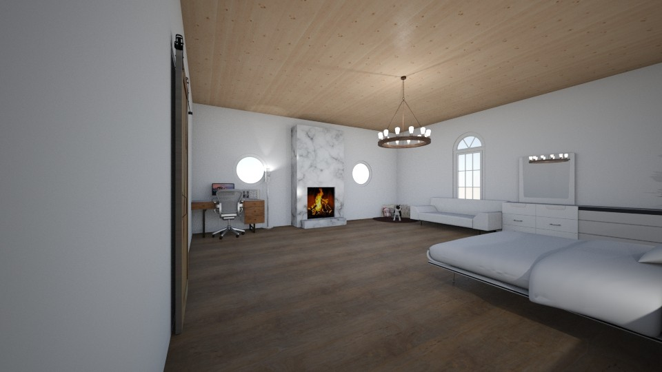 modern bedroom - by Ilovehorses