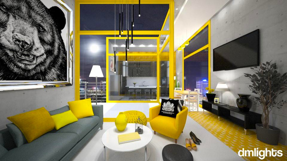 Yellow Circus - Modern - Living room - by KRdesign