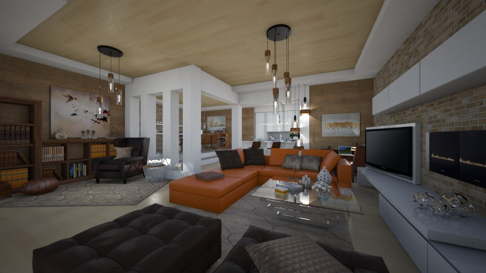 Relaxing room - Living room - by Vasiliki Stagkidou