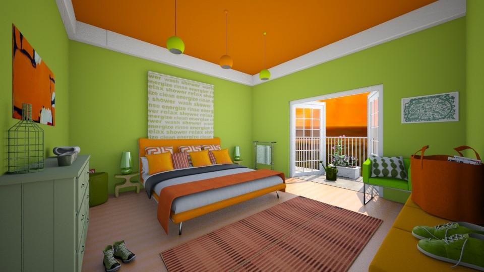 fresh bedroom - Bedroom - by rasty