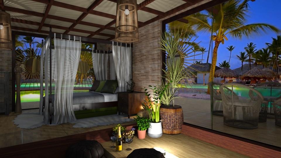 Bali Bedroom - by ZsuzsannaCs