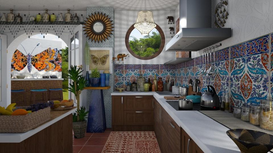 Bohemian Butterflies - Kitchen - by AlocinB