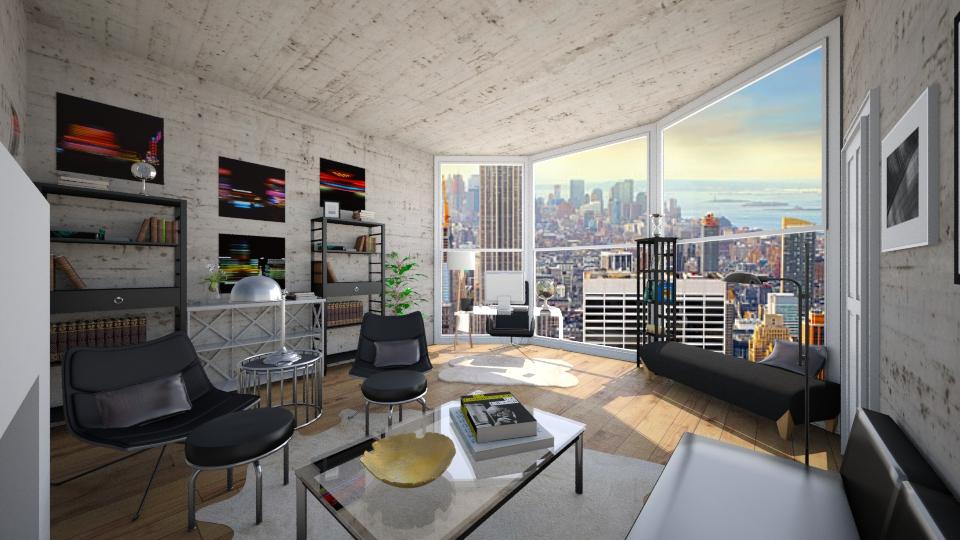 my office - Feminine - Living room - by diana villa