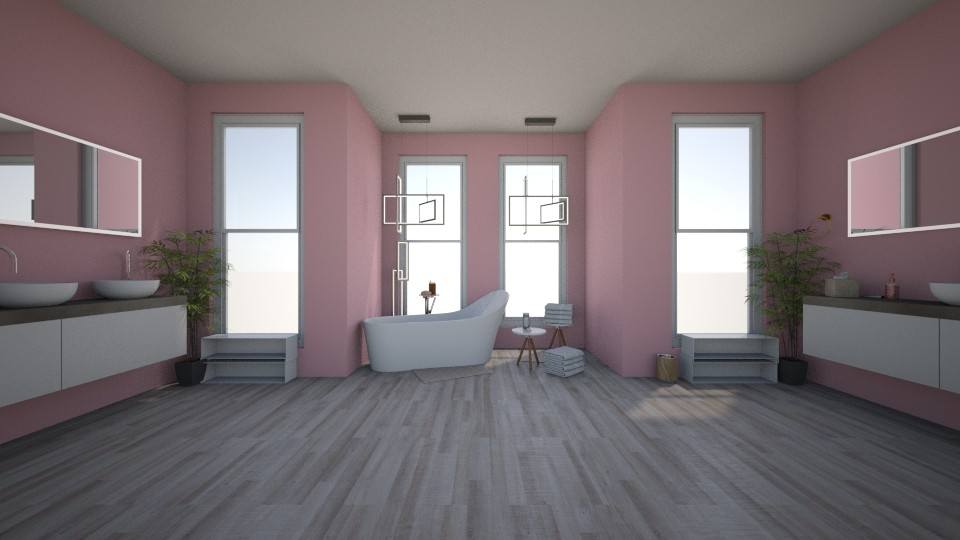 Pink Bathroom - Bathroom - by bearherb02