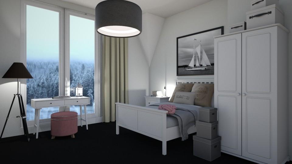 winter bedroom - by elinalinder