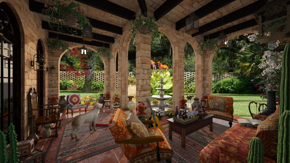 Design 42 Hacienda Patio Garden By Daisy320